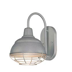 Item R Series Galvanized One-Light Outdoor Wall Bracket