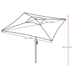 Corliving Warm White Square Outdoor Patio Umbrella Ppu 310 U Bellacor