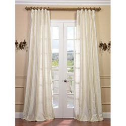 single panel curtain. Pearl Textured Dupioni Silk Single Panel Curtain, 50 X 96 Curtain F