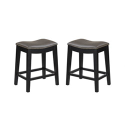 Item Emerald Home Briar 24-Inch Gray Barstool- Set of 2
