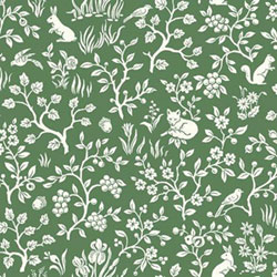 Item Fox and Hare Forest Green Wallpaper