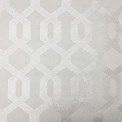 Item Mid Century Gray and Silver Wallpaper
