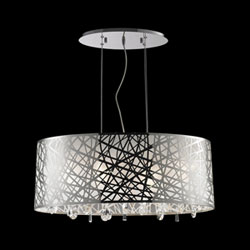 13f59e8204a Worldwide Lighting Corp Julie Polished Chrome Six-Light Oval Pendant. Hover  to zoom · 2103W83182C29 1. Hover to zoom. 2103W83182C29 1