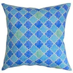 Item Erasma Blue and Green 18 x 18 Geometric Throw Pillow