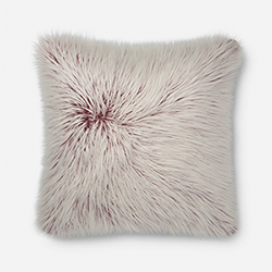 Item Faux Fur 22 In. x 22 In. Throw Pillow