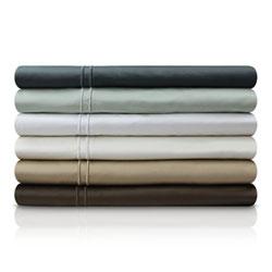 Item Slate Three-Piece 600 Thread Count Egyptian Cotton Twin Sheet Set