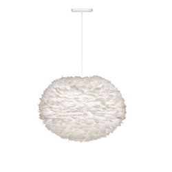 Item Eos Large White Pendant with White Canopy