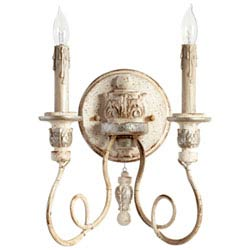 Item Florine Persian White and Mystic Silver Two-Light Wall Sconce