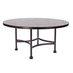 Item Chat Table Base with 54-inch Round Top , Copper Canyon and Roma Dark