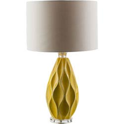 Item Bethany Yellow One-Light Table Lamp