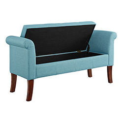 Brighton Hill Indie Aqua Storage Bench Bellacor