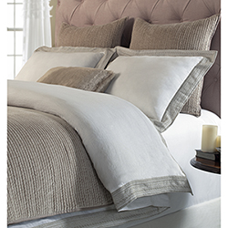 Item Parker White and Dune Queen Duvet Cover