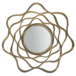 Item Profile Tapestry Gold Stainless Steel and Mirrored Glass 44-Inch Mirror