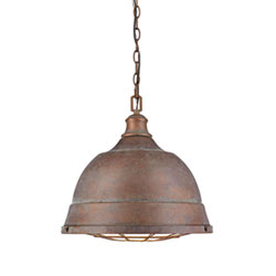 Item Fulton Copper Patina Two-Light Cage Pendant