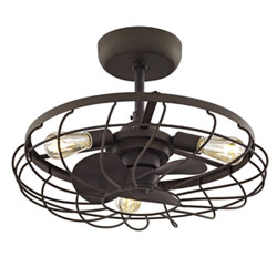 Item River Station Aged Bronze 13-Inch Three-Light Ceiling Fan