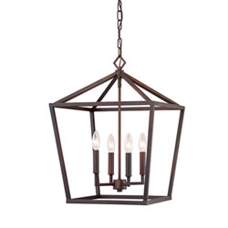 Item Kenwood Rubbed Bronze Four-Light Lantern Pendant