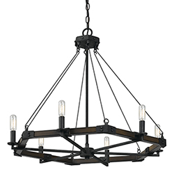 Made in usa natural iron chandeliers free shipping bellacor view product description 6 ft chain 10 feet of wire care instructions wipe clean with soft non abrasive cloth switch type hardwired aloadofball Choice Image