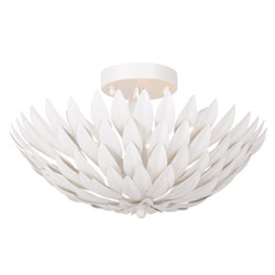 Item Broche Matte White Four-Light Ceiling Mount
