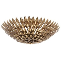 Item Broche Antique Gold Six-Light Semi-Flush