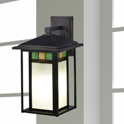 Contemporary outdoor lighting free shipping bellacor crisp clean light combined with a gentle pop of color makes our tahoe outdoor tiffany wall sconce the ideal fixture to illuminate your homes external aloadofball Image collections