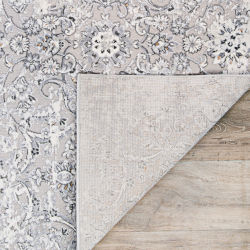 Couristan Brocatelle Velveteen Floral Silver Rectangular 5 Ft 3 In X 7 Ft 6 In Rug 26138256053076t Bellacor