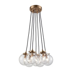 Item Boudreaux Satin Brass Seven-Light Pendant