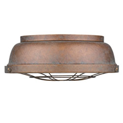 Item Bartlett Copper Patina Two-Light Cage Flush Mount