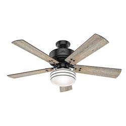 Item Cedar Key Matte Black 52-Inch One-Light LED Adjustable Ceiling Fan