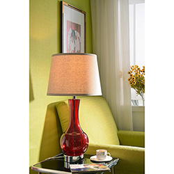 Decanter Table Lamp 15 Inch Diameter Cream Tapered Shade 29 Inch Height, 15  Inch Diameter, 15 Inch Ext. The Decanter Table Lamp Beautifully Blends ...