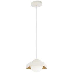 Item Five-O Textured White with Gold Leaf LED Mini Pendant