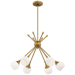 Item Pontil Honey Gold Six Light Chandelier