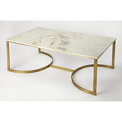 Butler Specialty Company Copperfield White Marble Cocktail Table 3871389 Bellacor
