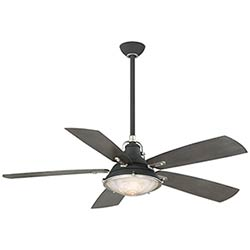 Item Groton Sand Black and Weathered Steel 56-Inch Outdoor Ceiling Fan