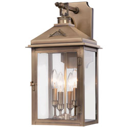 Item Eastbury Colonial Brass Four-Light 11-Inch Outdoor Wall Mount