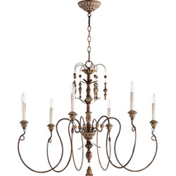 Item Salento Vintage Copper 32-Inch Six-Light Chandelier