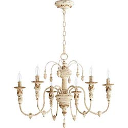 Item Salento Persian White 25-Inch Six Light Chandelier