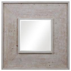 Item Alee White Driftwood Square Mirror
