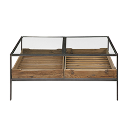 Item Silas Reclaimed Pine and Aged Steel Coffee Table