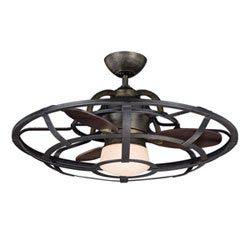 Item 26-Inch Alsace Fan d Lier Reclaimed Wood Ceiling Fan