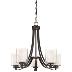 Item Harrow Bronze Five-Light Chandelier