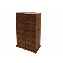Solid Hardwood Mission Style Multimedia Storage Cabinet, With Library Card  Catalog Style Doors. Holds 612 CDs Or 298 DVDs. Fully Assembled.