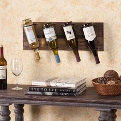 Southern Enterprises Saxon Weathered Oak Wall Mount Wine