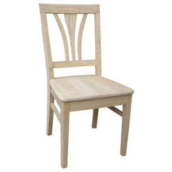 International Concepts Seating Unfinished Wood Set Of Two Fanback Chairs C 918p Bellacor