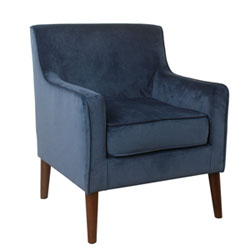 Item Mid-Century Velvet Accent Chair - Navy Blue