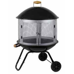 Black 28-Inch Bon Fire Patio Fireplace
