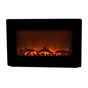 Black Wall Mounted Electric Fireplace