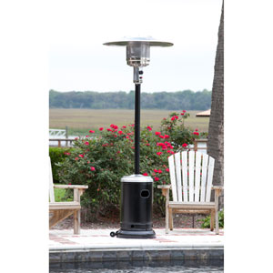 Hammer Tone Black and Stainless Steel Commercial Patio Heater
