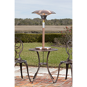 Cimarron Brushed Copper Colored Table Top Halogen Patio Heater