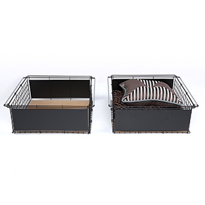 Atlas Metal Slide-Out Drawer for Bed Base Support System, Set of Two