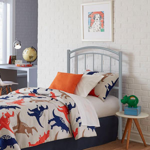 Rylan Shadow Gray Full Metal Kids Headboard